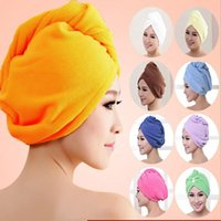 60*25cm Hair Turban Towel Women Super Absorbent Shower Cap Quick-drying Towel Microfiber Hair Dry Bathroom Hair Cap Cotton JJA129