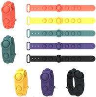 Silicone Pressure Relief Toys Bangles Puzzle Press Finger toy Bubble Bracelet for Kids Student Gifts