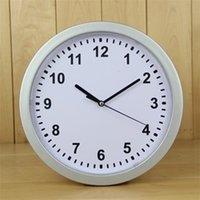 الأبيض ساعات الحائط البلاستيك الخفية فتح صناديق التخزين جولة المنظم ساعة ساعة آمنة مربع شنقا حاوية إخفاء