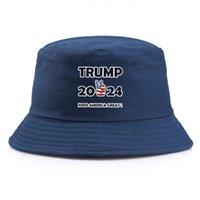 US Cadeaux Stock Party Cadeaux Trump 2024 Seau à élection Chapeaux Cinq étoiles pour Femmes Man Multi Couleur Une taille unique