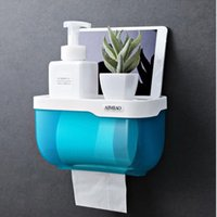 Fashion Paper Holder Case Bathroom ABS Material Water Proof Nail Free Phone Accessories Bulk Sale Toilet Holders
