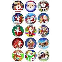 50pcs Charm Christmas Snowman Charms Time Gem Geming Gioielli regalo per 18mm FAI DA TE Button Snap Bracciale Collana