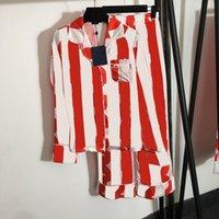 Retro Flora Print Pajamas Set Luxury Letter Designer Women Sleepwear Home Clothing Christmas Day Gift for Girl Silk Nightwear