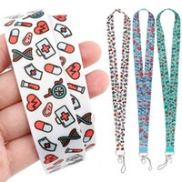 Dz2117 Nurse Lanyard for Key Chain Doctors Id Card Cover Pass Mobile Phone Badge Holder Ring Neck Straps Medical Accessories