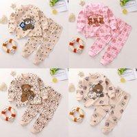 Clothing Sets Cartoon Bear Baby Autumn Boys Clothes Infant Cotton Girls 2pcs Born Underwear Kids Set