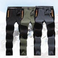 Hommes automne hiver Pantalon de jogging élastique imperméable sèche rapide Pantalon chaud Pantalon extérieur Pantalon extérieur Automne Casual Casual Cargo Pantalon