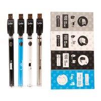 Kits de bateria de caneta Vapta 350 900mAh VV pré-aquecimento 3.3-4.8v Slim Torça 510 Tópico Dab Dab Espesso Cartucho De Petróleo Embalagem De Embalagem Spinner SS Ajustável