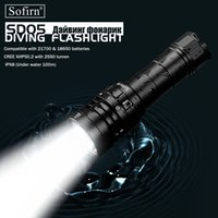 Sofirn New SD05 Scuba Dive LED Flashlight Diving Light Cree XHP50.2 Super Bright 3000lm 21700 Lamp with Magnetic Switch 3 Modes 210322