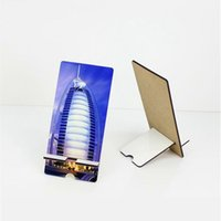 Mixed Style MDF Sublimation Blanks Cell Phone Mounts Holder Stand Universal Desk Stand JJA200