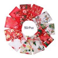 50 pz 10 x 15 cm 13x18cm Natale coulisse in organza borsa regalo sacchetti partito womens weddy cardy guscio guscio regalo di cioccolato