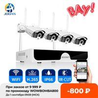 Jooan 8CH NVR HD 3MP CCTV Kamera Sistemi Ses Kayıt Açık P2P WIFI IP Güvenlik Kamera Seti Video Gözetim Kiti H0901