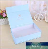 500pcs lot Custom Cardboard Paper Magnet Rigid for Gifts Chic Small Jewerly Packaging Box