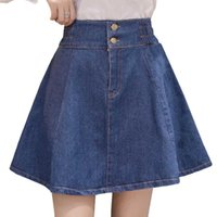 Jeans da donna ICClek JXMYY Summer Donne Mini Denim Gonna Elastico Elastico A-Line A-Line Pieghettato Moda Sexy Kawaii Preppy Girl Skir
