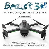 SG906 Max1 Max بدون طيار مع كاميرا 4K للبالغين، GPS بدون طيار، 3 محور Gimbal، تجنب عقبة أوتوماتيكية، وقت الرحلة الطويل، اتبعني الوضع، 5G WIFI FPV، طائرة كهربائية / RC، 2-1