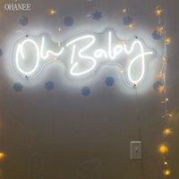 2021 OHANEE Oh Baby LED Neon Sign Custom Made Wall Lights Party Wedding Shop Window Restaurant Birthday Decoration