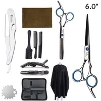 6'' Professional Hair Cutting Scissors Hairdressing Thinning Shears Barber Shop Accessories Haircut Products Set1