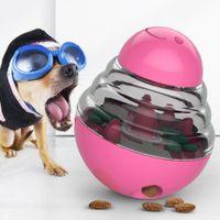 Pet IQ Treat Ball Dog Toy Food Dispensing Puzzle Toy Treat Dispensing Dog Toy Interactive Increases IQ and Mental Stimulation Tumbler Design