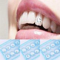 10 unids Parrillas Diamond Bur Material dental Material Dientes Partamentos Dentaduras Acrílico Cristal Ornamento Higiene Oral Diente Decoración