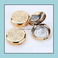 Boxes Packing Office School Business & Industrialgold Empty Cosmetic Eyeshadow Case With Aluminum Pan Mirror Makeup Powder Puff Compact Cont