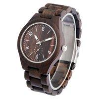 Montres-bracelets Yisuya Hommes Wood Montre Casual Holle Horloge avec aiguilles lumineuses Montres Quartz Montres en bois Remogio rétro Relogio Masculino