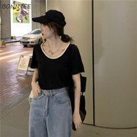 Women's T-Shirt T-shirts Women Solid All-match Leisure Streetwear Fashion Korean Style Temperament Summer Simple Female Tops Cozy Sexy Stret