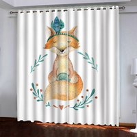 2021 3D Curtain animal HD Window Curtains Drapes For Living Room Bedroom KTV Home Decor
