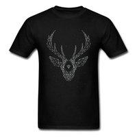 CCCCSPortPure 코튼 티셔츠 갤럭시 신 디스틱 별자리 엘크 티셔츠 독립 기념일 T 셔츠 라운드 칼라 여름 옷 남성용