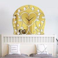 Wall Clocks Clock Love Flower Vine Fashion Creative Acrylic Stickers Living Room Bedroom Home Decoration Mirror