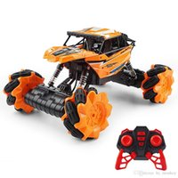 Kids electric remote control model cars 360 rotation four-wheel climbing vehicle with cool light toys 2.4GR C Off-Road drift boys gift 02