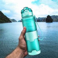Sport Water Bottles Protein Shaker Portable Motion Leakproof Drinkware My Drink Bottle A Free Outdoor Travel Camping Hiking 210908