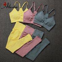 Athvotar Frauen Fitness Yoga Sets Neueste Nahtlose Sportanzüge Hohe Taille Gym Fitness Hosen Sportswear Workout BH + LeggingsSoccer Jersey