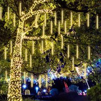 Dizeleri 50 cm 10 Tüpler LED Güneş Meteor Duş Yağmur Işıkları Açık Su Geçirmez Noel Dize Işık Düğün Parti Dekorasyon için