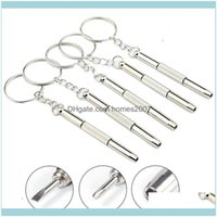 Screwdrivers Hand Tools Home & Garden3 In 1 Keychain Repair Glasses Watch Phone Triple Versatile Small Eyeglass Mini Screwdriver Bh2365 Drop