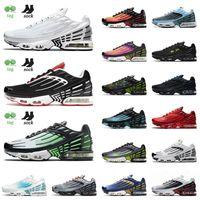 Top mode 2021 TN Plus 3 Chaussures de course Multi Blanc Noir vert Aqua Crimson Red Tiger Deep Topaze Royal Topaz Gold Sports Baskets 36-45