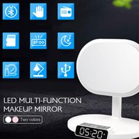 Desk & Table Clocks Bluetooth Speaker Alarm Lamp Modern Touch Button Home Make Up Bedroom Cosmetic Mirror