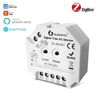 Control de hogar inteligente ZigBee 3.0 Triac AC Dimmer Light Switch Module Brillo Tuya Life RF Remoto Compatible con Smartamentos Alexa