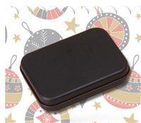 Прямоугольник олово коробка черный металлический контейнер олово коробки конфеты ювелирные изделия игральные карты хранения коробки подарочные упаковки GGA4392