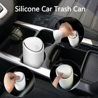 Other Interior Accessories Auto Car Garbage Trash Can Universal Silicone Dust Case Holder Rubbish Bin Organizer Storage Box