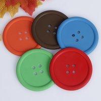 Yuvarlak Coaster Isıya Dayanıklı Kaymaz Su Şişeleri Pedleri Kahve İçecek Cu Placemat Su Geçirmez Düğme Şekilli Çay Beraberlik Mat BWe8368