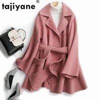100٪ الصوف معطف ربيع الخريف سترة النساء الملابس 2020 الوردي الكورية أنيقة بلون معاطف الإناث سترة قميص ZT2243 I5IH #