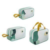 Storage Bags TPU Cosmetic Bag Portable Travel Handbag Case Waterproof Toiletry Pouch Makeup Organizer