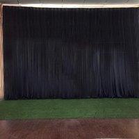 Party Decoration 3 M X 8 Luxury Transparent Black Silk Wedding Backdrop Event Banquet Drapes Curtain El Stage Background