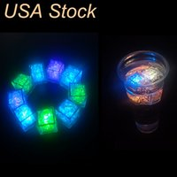 Çok Renkler Mini Romantik Süslemeleri Aydınlık Diğer LED Aydınlatma Yapay Buz Küpü Flaş Işık Düğün Noel Partisi Dekorasyon ABD Stok