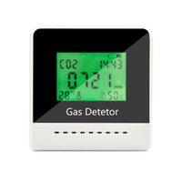 Analisadores de gás de CO2 Medidor de temperatura Umidade multifuncional Monitor de qualidade do ar com relógio Tester Analyzer