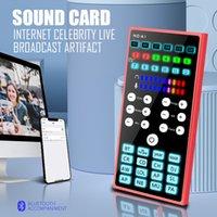 Bluetooth portatile Bluetooth Scheda audio Changer Miscelatore Karaoke Microfono per Phone PC Computer Streaming Registrazione Interfaccia audio