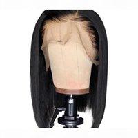 Maxine kurze stumpfe Schnitt Bob Perücke Gerade Spitze Front Menschliche Haarperücken für schwarze Frauen 8-14 Zoll vor dem Babyhaar 13x4 vorbereitet
