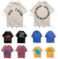 Versión alta CPFM Kanye Jesús es King T Shirt Sanshen Pintura al óleo Street Floja de manga corta T-shirt 38