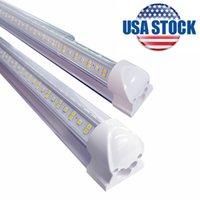 25 / PACK COOLER PUERTE INTEGRADA V Forma de VIR 8FT LED LIGHT 6500K 144W Lente transparente 14400LM para almacenes Garage Stocks en Nueva Jersey AC85-265V 15000LM EE.UU. Stock Elalight