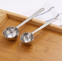 Kitchen Tools Coffee Scoop Measuring Spoon Stainless Steel 304 Spoons Scale 15ml 30ml Gadget Mesaure Tool SN5526