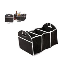 Storage Bags Car Bag Organizer Foldable Trunk Travel Toys Food Tool Non Woven Fabric Container Box Auto Accessories
